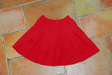 Červená sukýnka, h&m,86