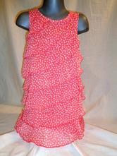 Luxusní červené srdíčkové volánové šaty, dopodopo,128