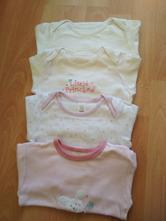 Body/bodýčka 4 ks - dlouhý rukáv , baby club,80