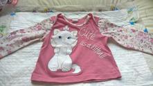 Tričko s kočičkou, disney,80