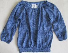 Dívčí letní blůzka halenka modrá květovaná h&m 164, h&m,164