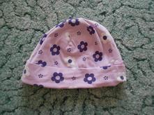 Růžová čepice s kytičkami, tcm,86