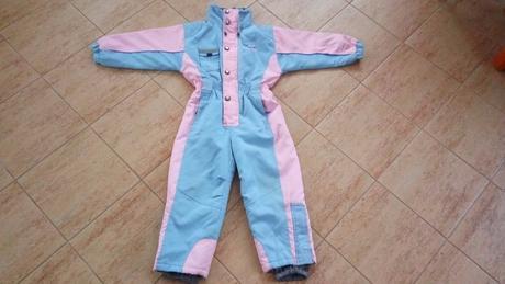 Zimní kombinéza pro holky - růžovo-modrá, 128