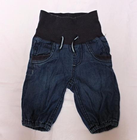 Kalhoty dvouvrstvé modrá bavlna , name it,62
