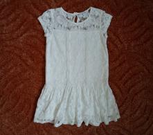 Bílé krajkové šaty šatičky next, next,110