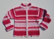 G184dívčí pletený svetr na zapínání vel. 110-116, 110