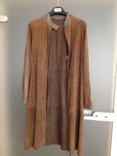 Podzim kabát kůže max mara vel.36,s olivová khaki, s