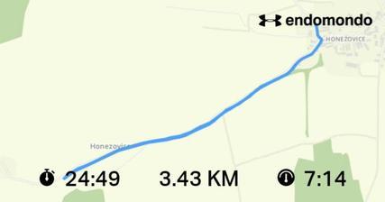 Dnešní výkon nic moc.. Ale lepší pár km než vůbec nic