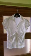Dámská bílá košile, krátký rukáv, 36
