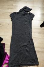 Šedý dlouhý svetr k legínám, svetrové šaty, amisu,m