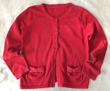 Vel. 122 červený svetr s kapsami, george,122