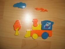 3d plastové puzzle,pucle-mašina,mašinka,lokomotiva,