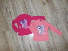 Dětská trička dl. rukáv, vel. 104 (2ks), 104