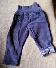 Modré manžestráky, srdíčka, lupilu,80