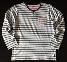 Vel. 146 bílé pyžamové triko s proužky, 146