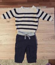 Set kalhoty a svetr 3-6 mesicu, f&f,68