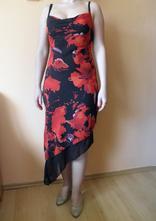 Černočervené šaty, s