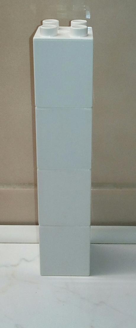Lego duplo vysoké bílé kostky 2x2 nopy 4 kusy,