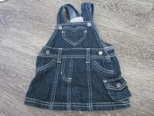 Jemné džínové šaty v. 62, lupilu,62