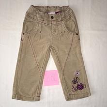 Zateplené bavlněné manžestrové kalhoty vel. 86, dopodopo,86