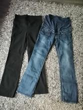 2x těhotenské kalhoty z hm a ca vel.42-44, 42