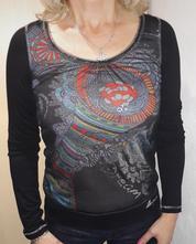 Nové dámské tričko s dlouhým rukávem s desigual, desigual,s