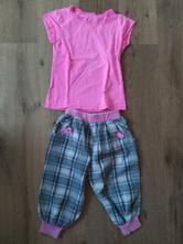 3/4 platene kalhoty a triko, 116