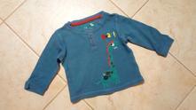 Modrošedé triko s drakem zn. tu, tu,68