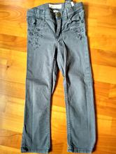2_sede kalhoty zdobené výšivkou, h&m,110