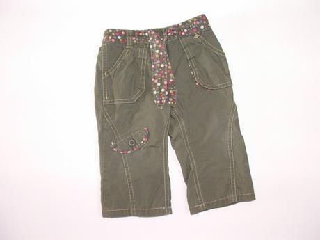 H791 podšité plátěné kalhoty v.74, mothercare,74