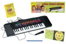 Elektrické klávesy +mikrofon+česko/slov.zpěvník+cd,