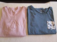 Cena celkem. 2x pěkné dámské bavl. tričko, dl. ruk, esmara,s