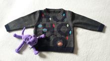 Vánoční svetřík s hrací ozdobičkou mothercare, mothercare,86