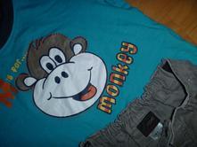 Tričko s opičkou + kalhoty next, next,86