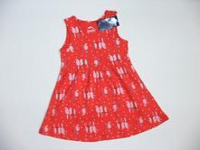 P74 nenošené šaty s papoušky vel. 86/92, lupilu,92