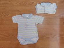 Body s krátkým rukávem a límečkem pro dvojčata , 56