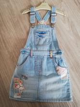 Riflové šaty s laclem next holčička, next,116