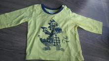 Bavlněné triko dlouhý rukáv, baby,74