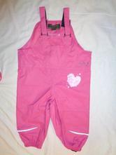 Luxusní růžové nepromokavé šusťákové kalhoty, regatta,92