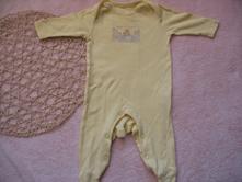 Pyžamo/overal - vel. 0-3 měsíce, 62 cm, f&f,62