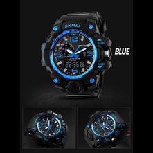 Sportovní značkové hodinky skmei - modré 08a3f08f1e