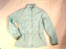Nádherná modrotyrkysová prošívaná přechodová bunda, 158