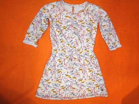 Luxusní silné bavlněné šaty safari - zebry, žirafy, 122