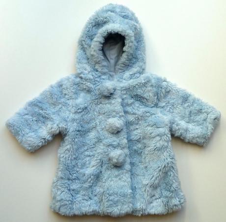 Kožešinový kabát kabátek s kapucí kožich vel. 62, mayoral,62