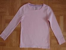 Růžové tričko s dlouhým rukávem , f&f,122