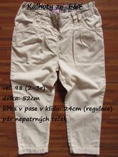 Kalhoty zn. f&f, f&f,98