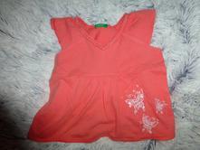 Oranžová tunika benetton 80-86, benetton,80