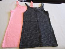 2x pěkná bavl. elastická dívčí tílka z h&m, h&m,134