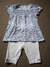 Tunika / šaty a tříčtvrteční kalhoty vel. 74-80, c&a,74