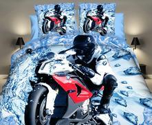 Povlečení 3d-140x200 motorka č.8- skladem, 140,200